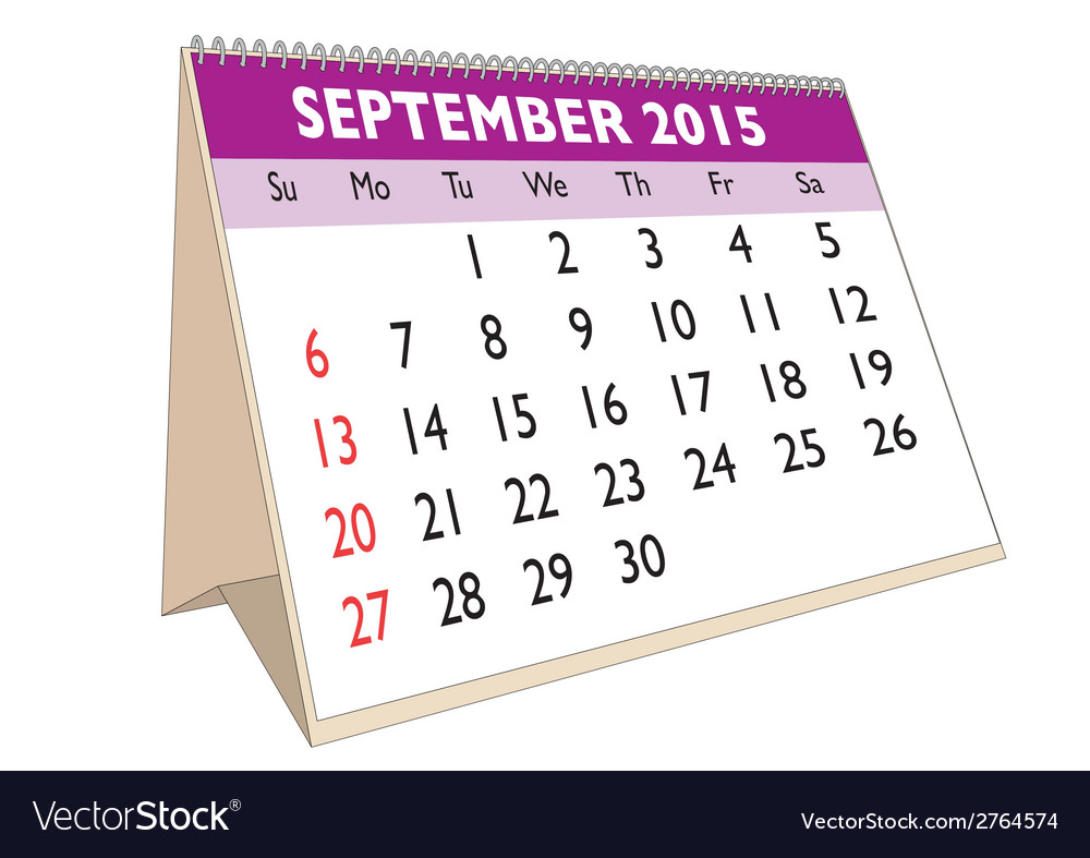 September 2015 vector | Price: 1 Credit (USD $1)