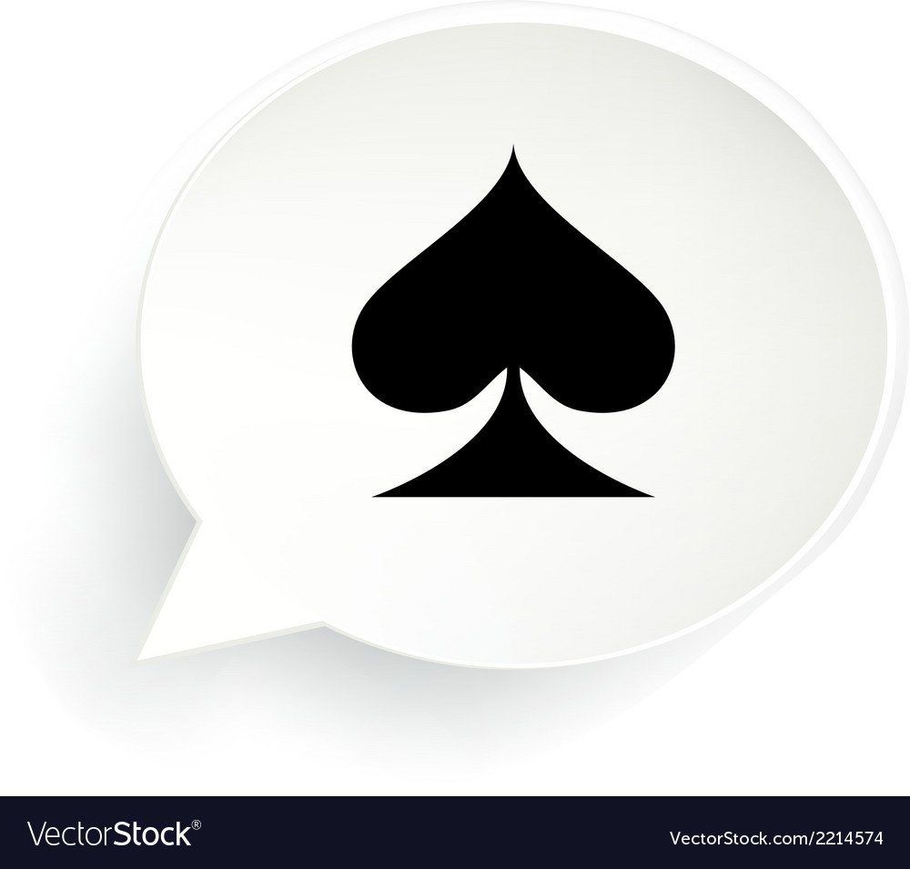 Spades speech bubble vector | Price: 1 Credit (USD $1)