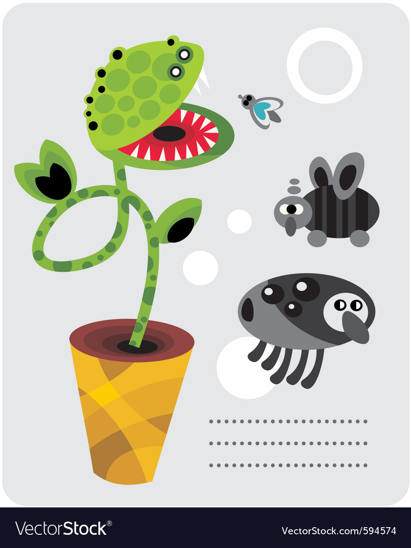 Venice flytrap vector | Price: 1 Credit (USD $1)