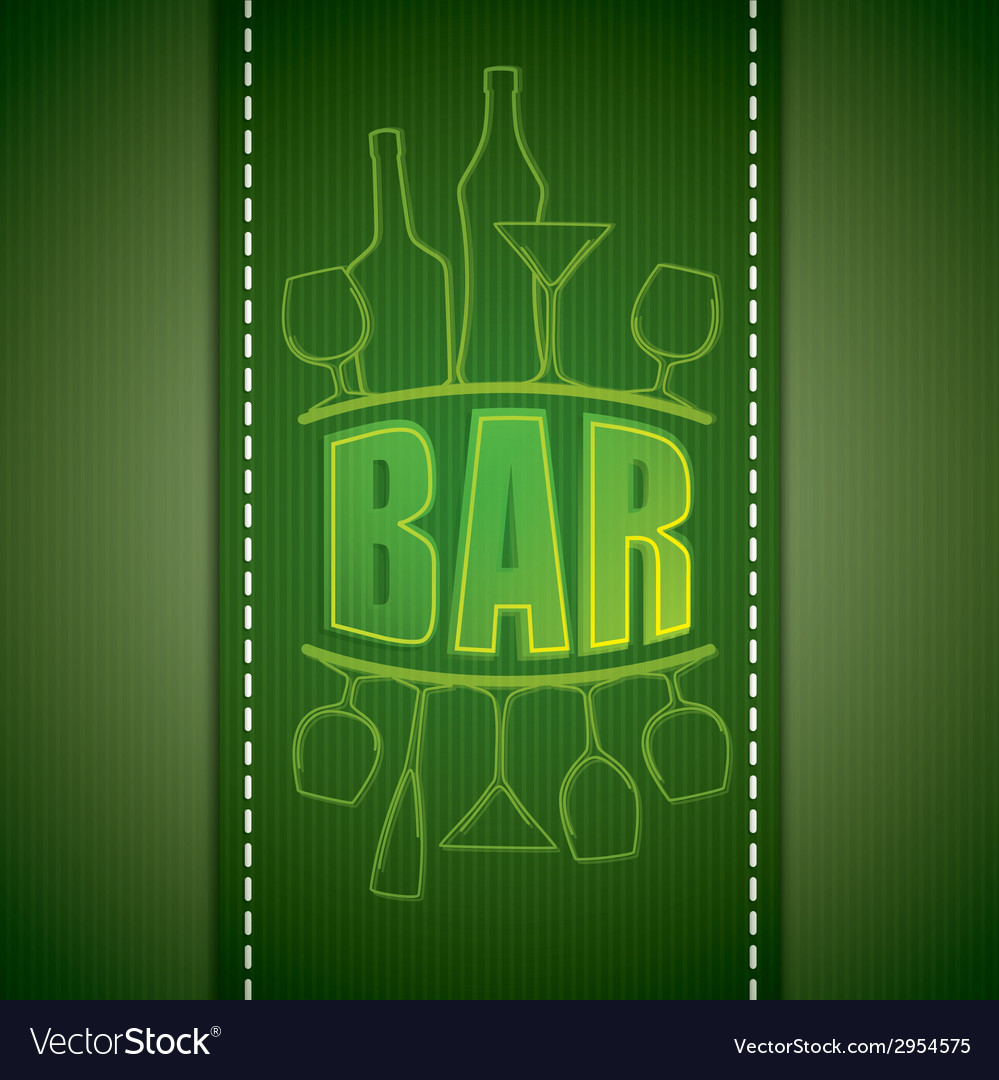 Bar list design vector | Price: 1 Credit (USD $1)