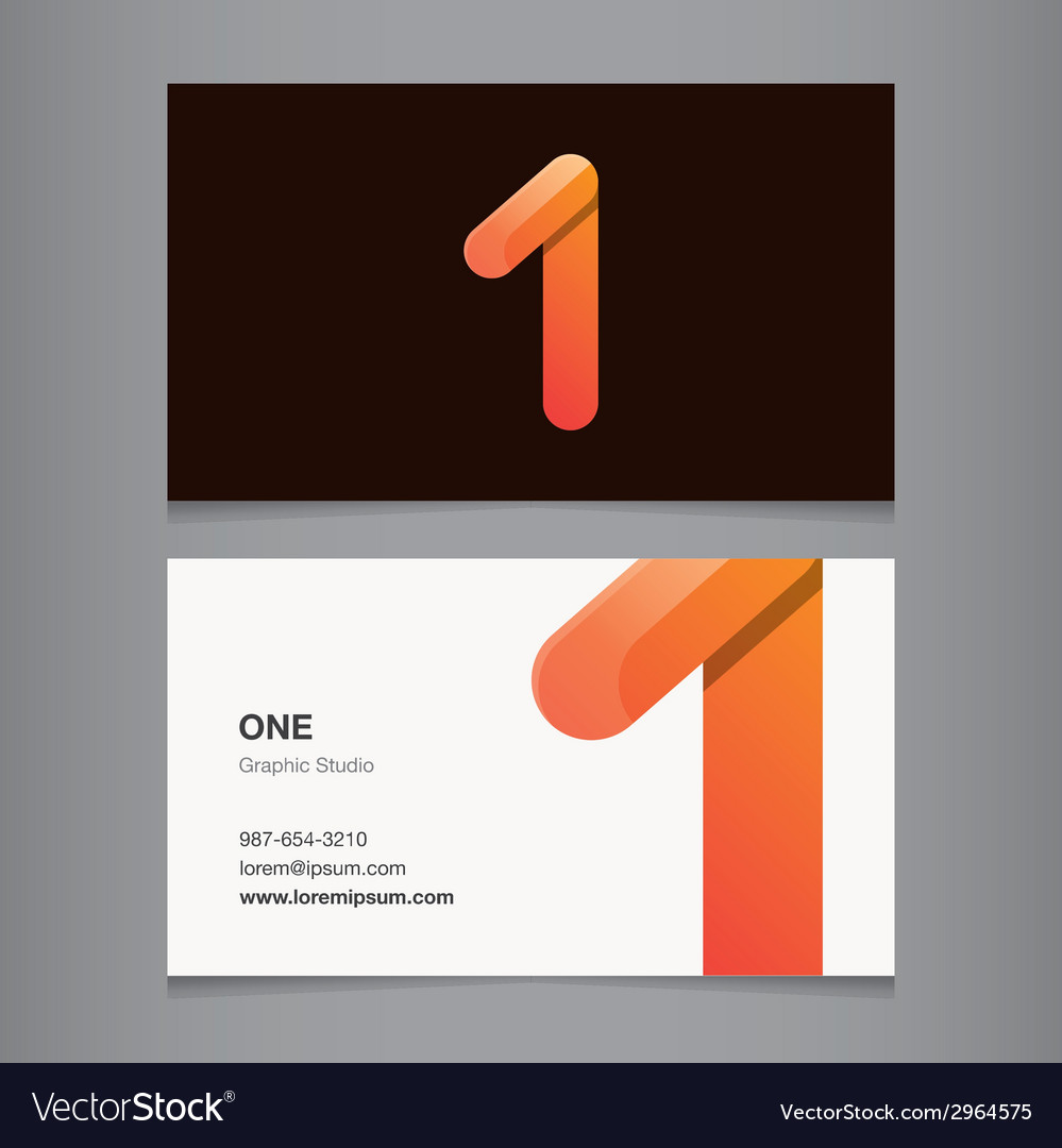 Business card number 1 vector | Price: 1 Credit (USD $1)