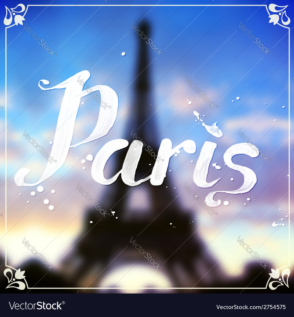 Eiffel tour blurred background with white vector | Price: 1 Credit (USD $1)
