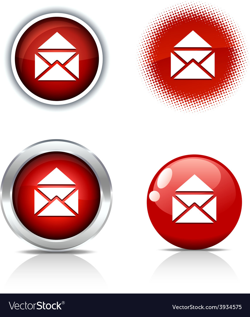 E-mail buttons vector | Price: 1 Credit (USD $1)