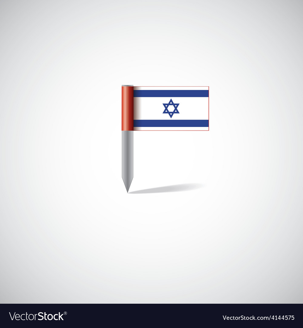 Israel flag pin vector | Price: 1 Credit (USD $1)