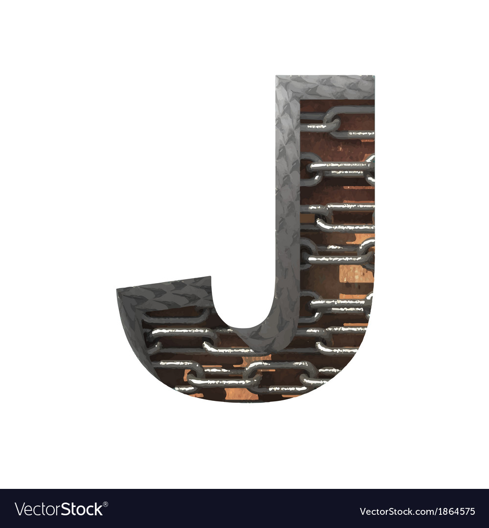 Metal cutted figure j paste to any background vector   Price: 1 Credit (USD $1)