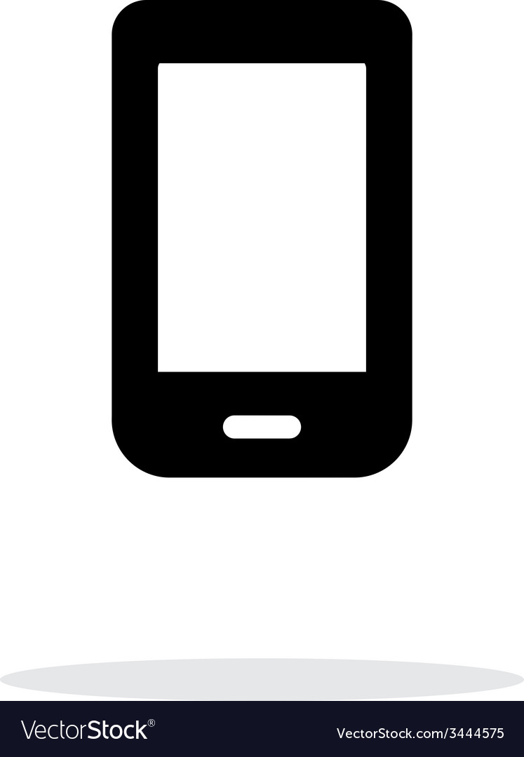 Mobile phone icon on white background vector | Price: 1 Credit (USD $1)