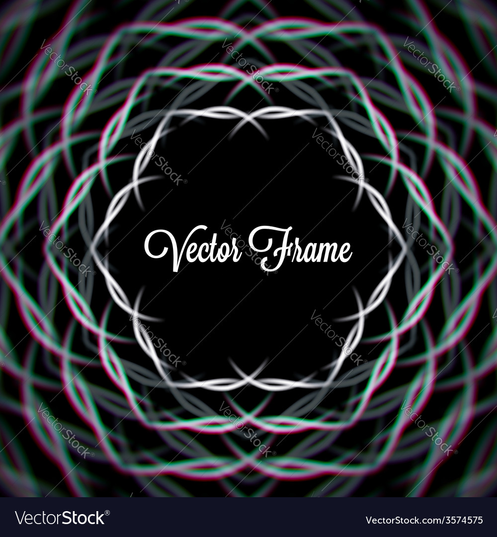 Mystic shiny hex frame with aberrations vector   Price: 1 Credit (USD $1)