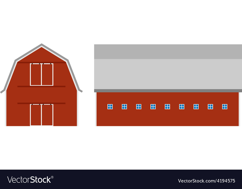Red barn vector | Price: 1 Credit (USD $1)