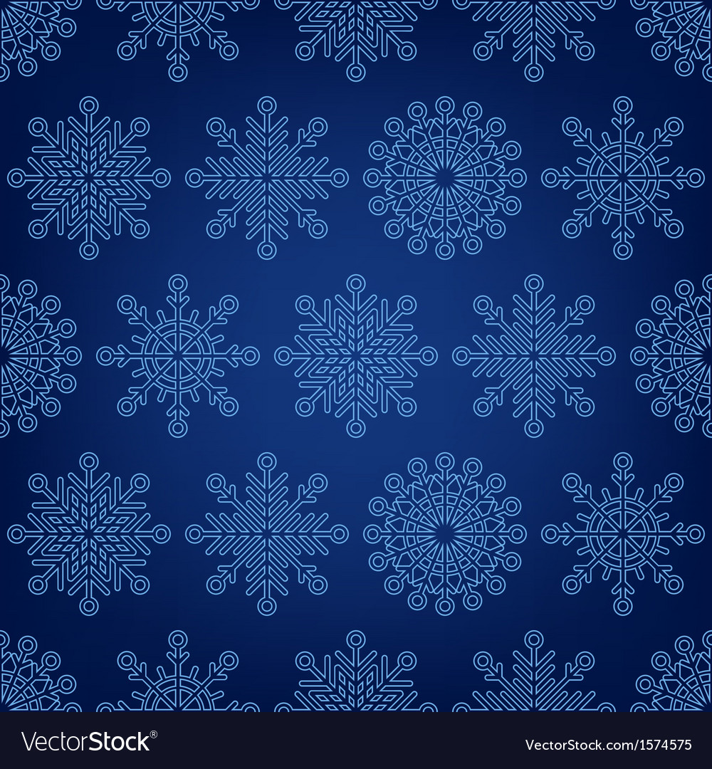 Seamless pattern of snowflakes on a dark backgroun vector | Price: 1 Credit (USD $1)
