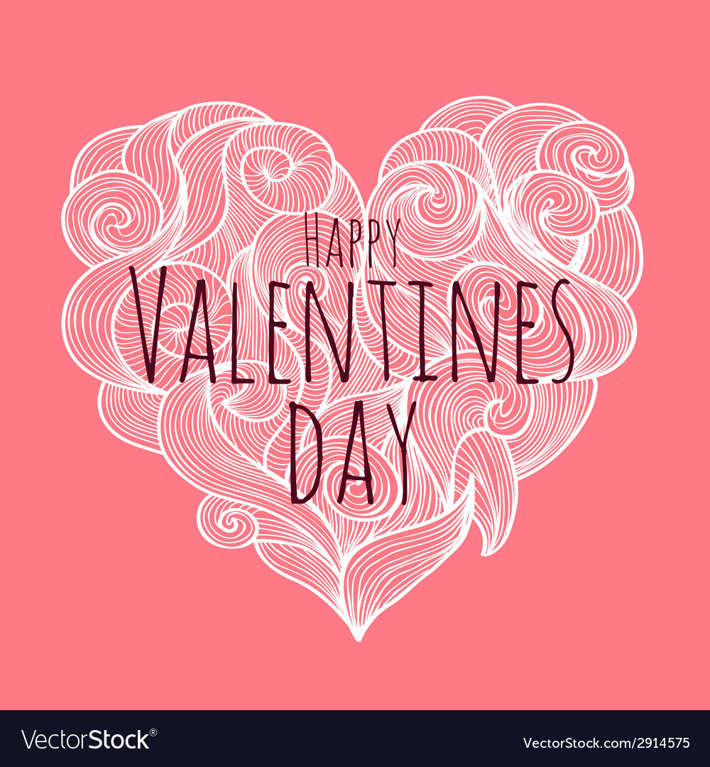 Valentines day decorative card vector | Price: 1 Credit (USD $1)
