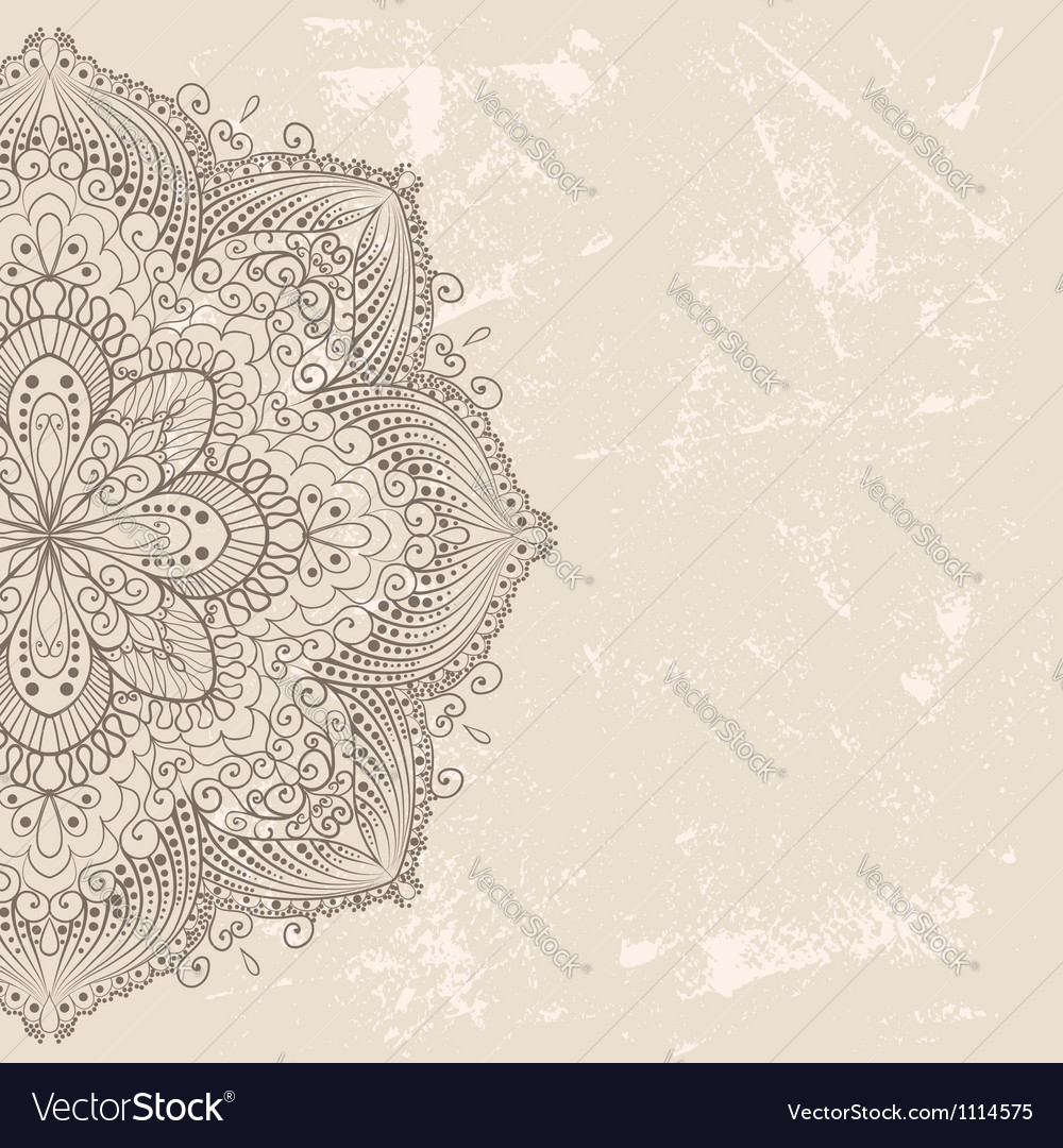 Vintage invitation card vector | Price: 1 Credit (USD $1)