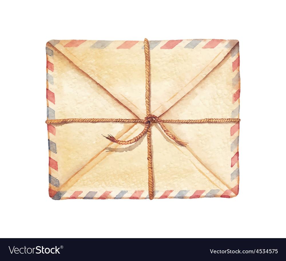 Watercolor envelope vector | Price: 1 Credit (USD $1)