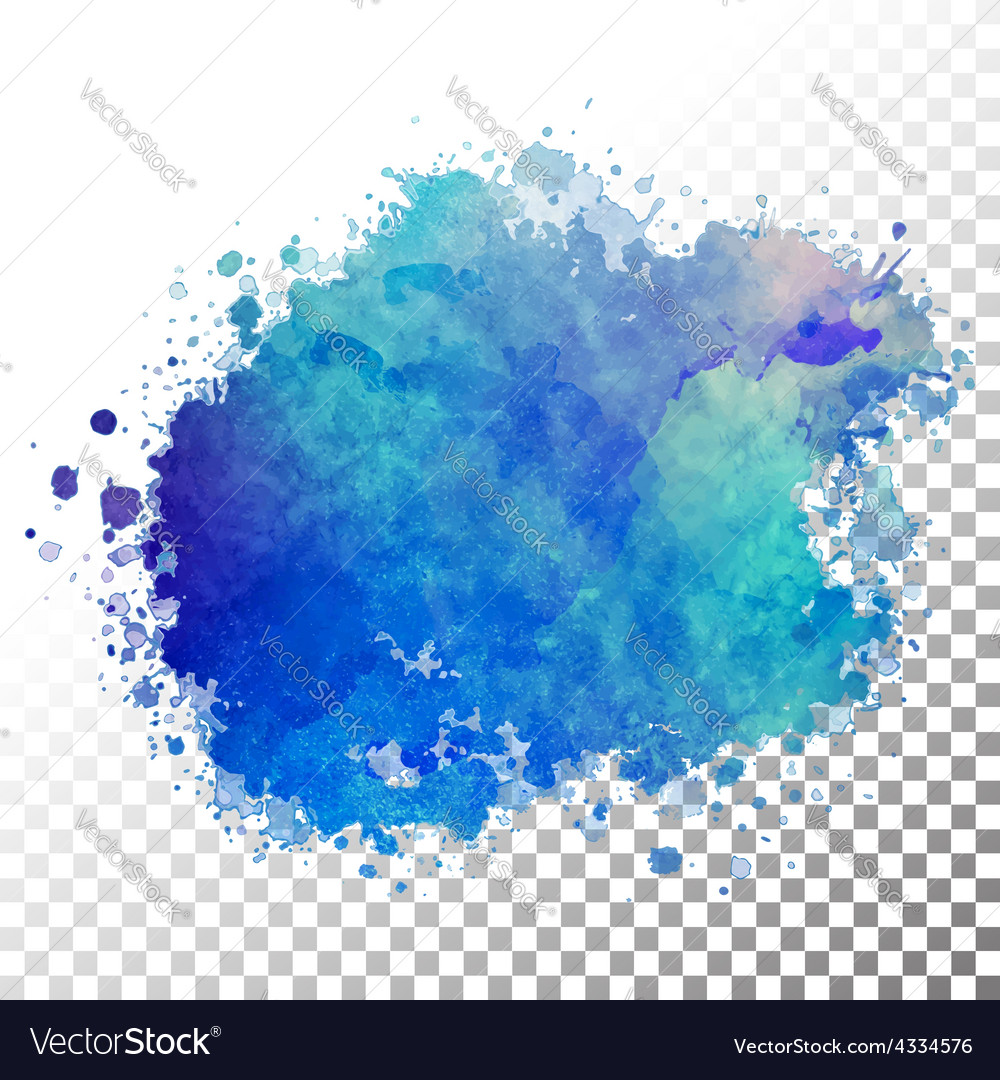 Abstract watercolor painted blot vector | Price: 1 Credit (USD $1)