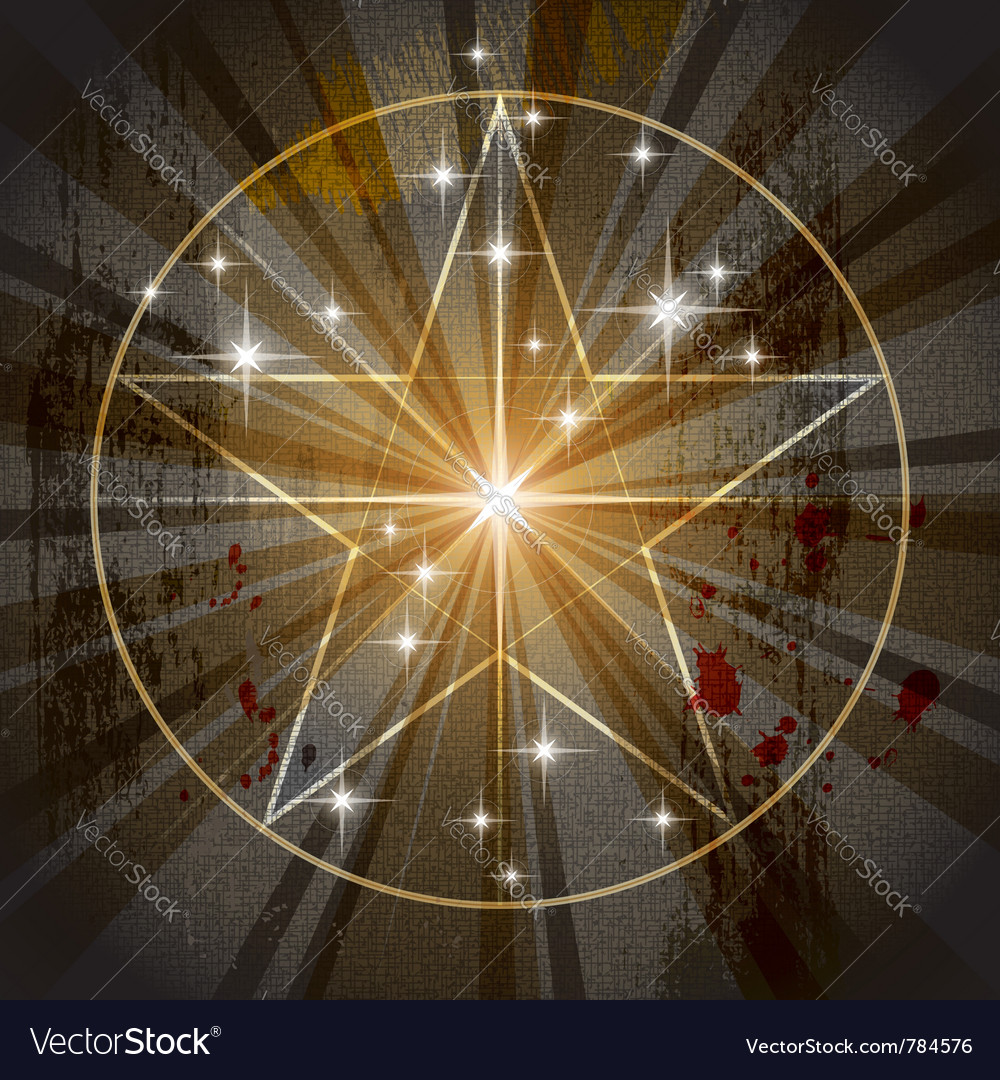 Ancient mystic pentagram vector | Price: 1 Credit (USD $1)