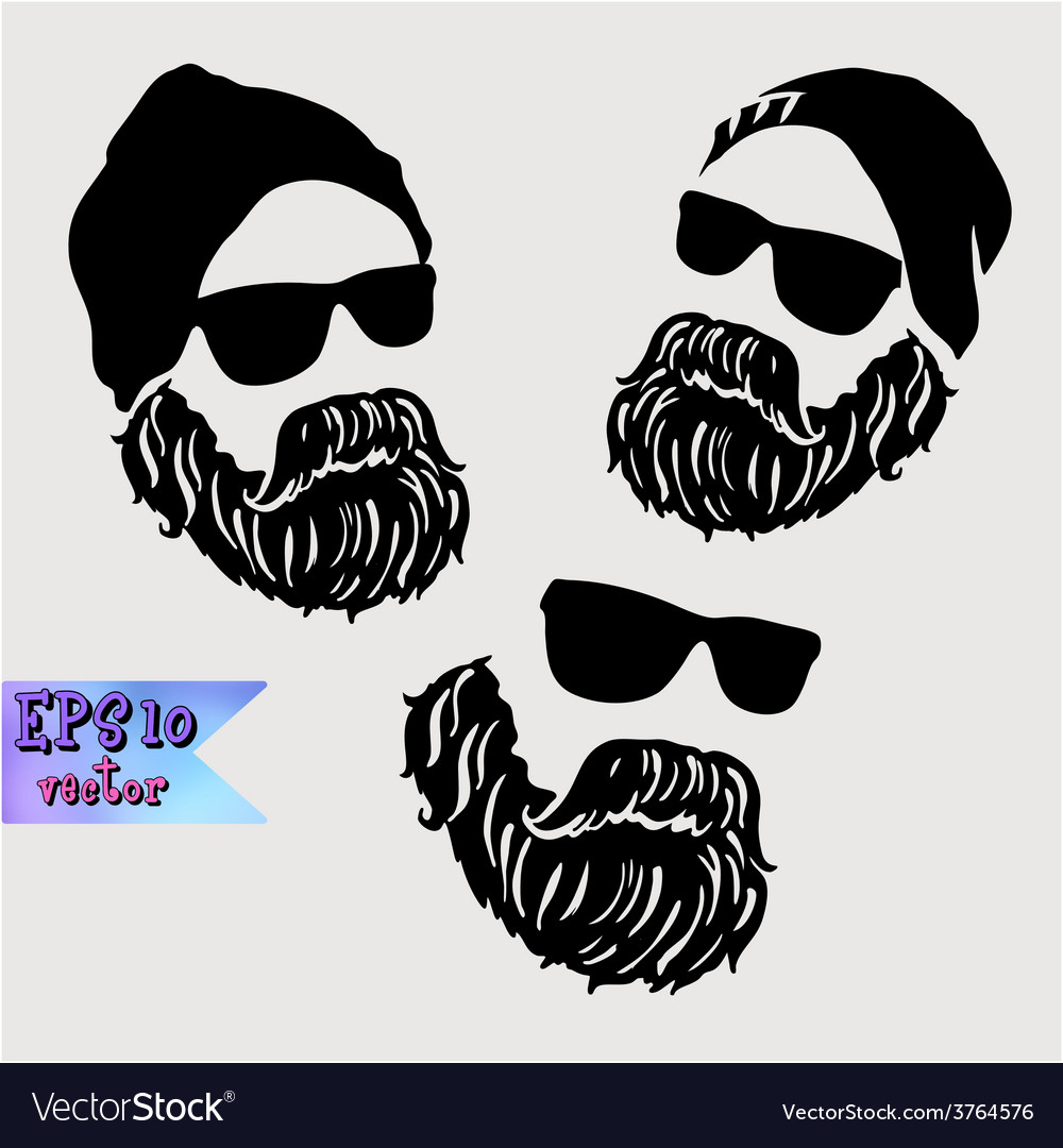 Brutal adult man with a mustache vector | Price: 1 Credit (USD $1)