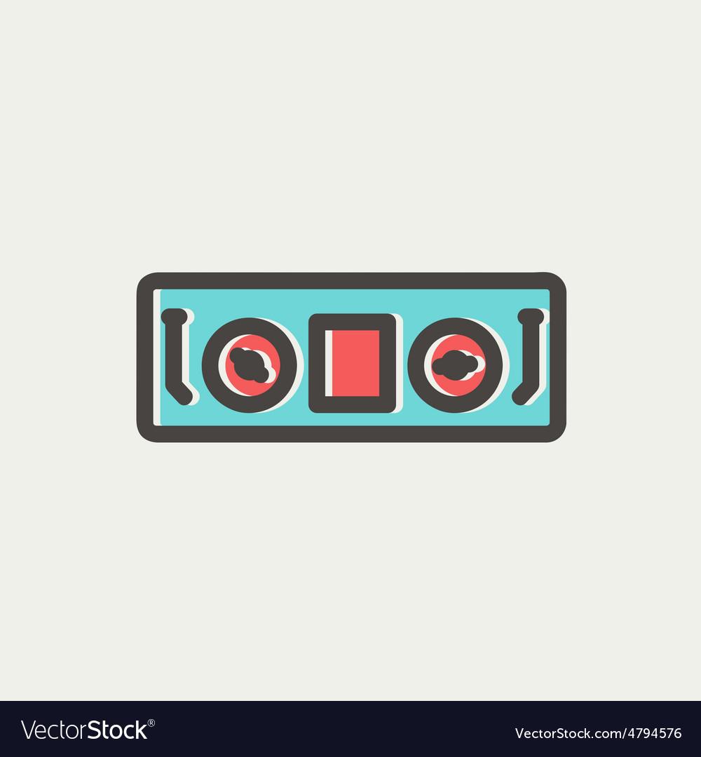 Dj console thin line icon vector | Price: 1 Credit (USD $1)