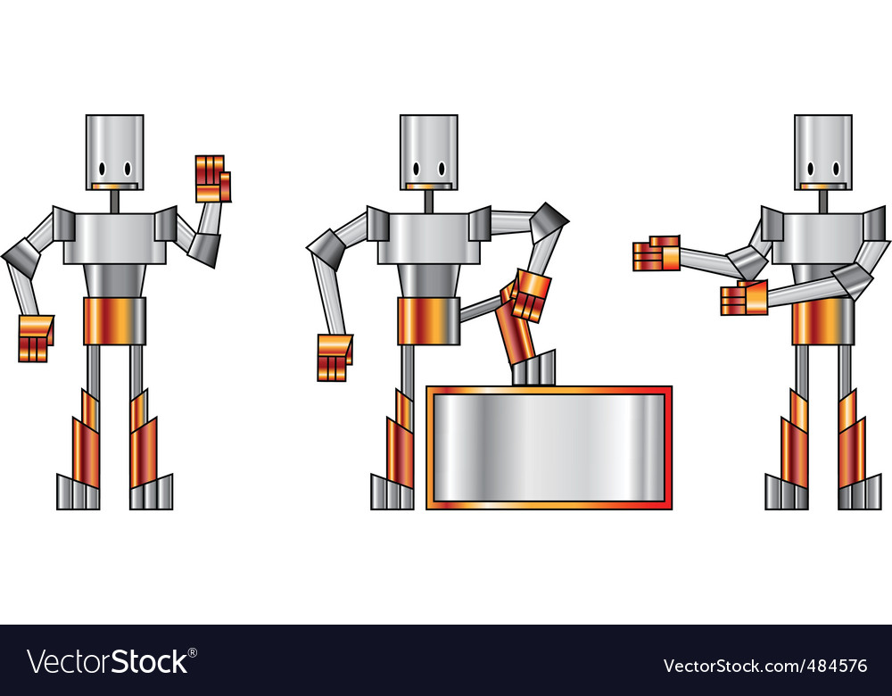 Funky robots vector | Price: 1 Credit (USD $1)
