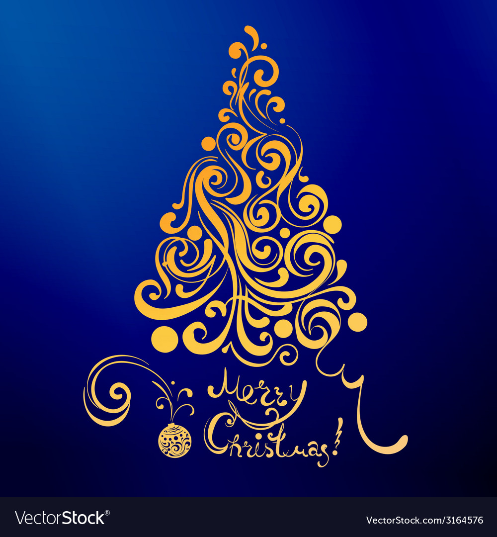 Lace christmas tree vector | Price: 1 Credit (USD $1)