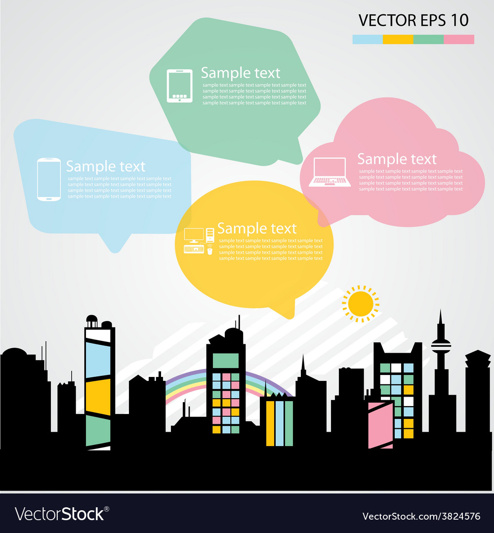 Network communication city vector | Price: 1 Credit (USD $1)
