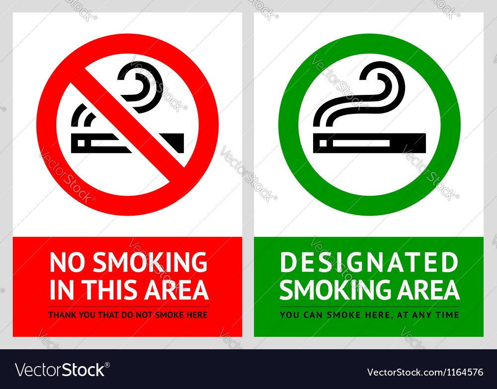 No smoking and smoking area labels vector | Price: 1 Credit (USD $1)