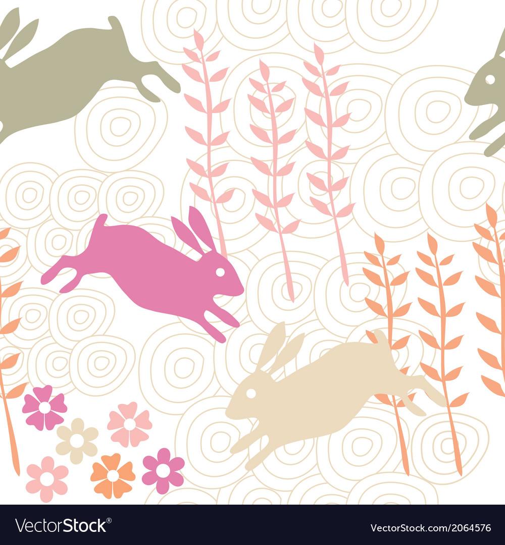 Rabbit seamless texture endless vector | Price: 1 Credit (USD $1)