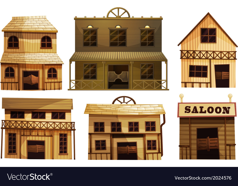 Saloon bars in the west vector | Price: 1 Credit (USD $1)