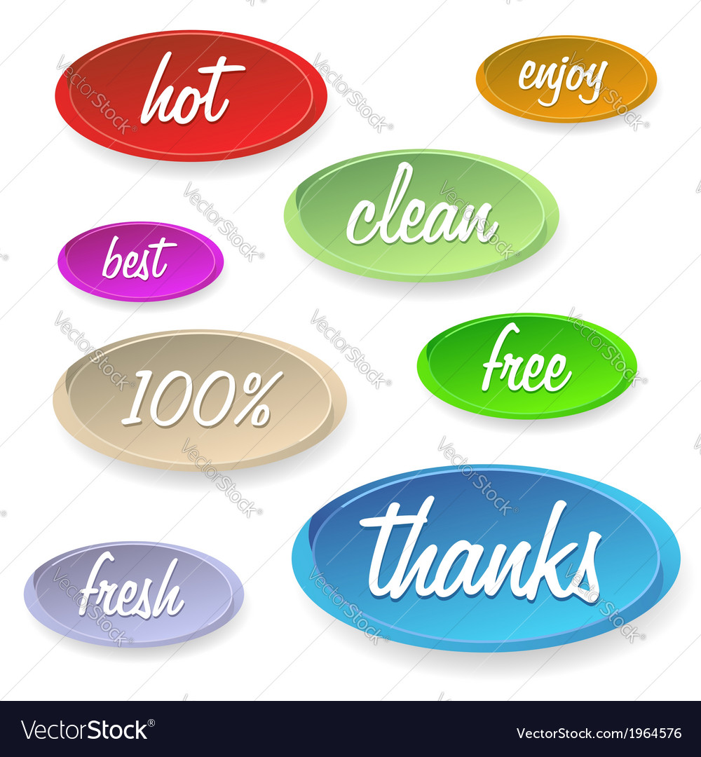 Set of stickers or buttons - customer satisfaction vector | Price: 1 Credit (USD $1)