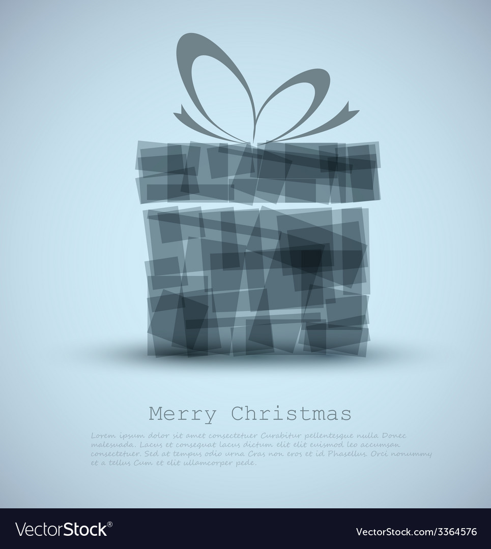 Simple christmas card with a gift vector | Price: 1 Credit (USD $1)