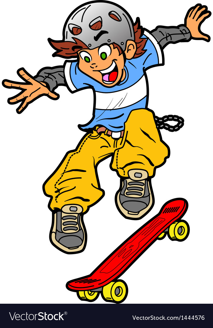 Skateboarder doing trick vector | Price: 1 Credit (USD $1)