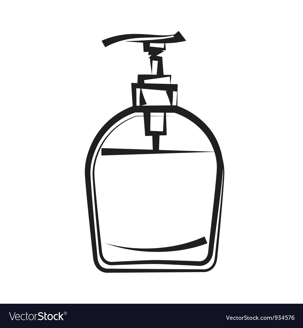 Soap dispenser freehand drawing vector | Price: 1 Credit (USD $1)