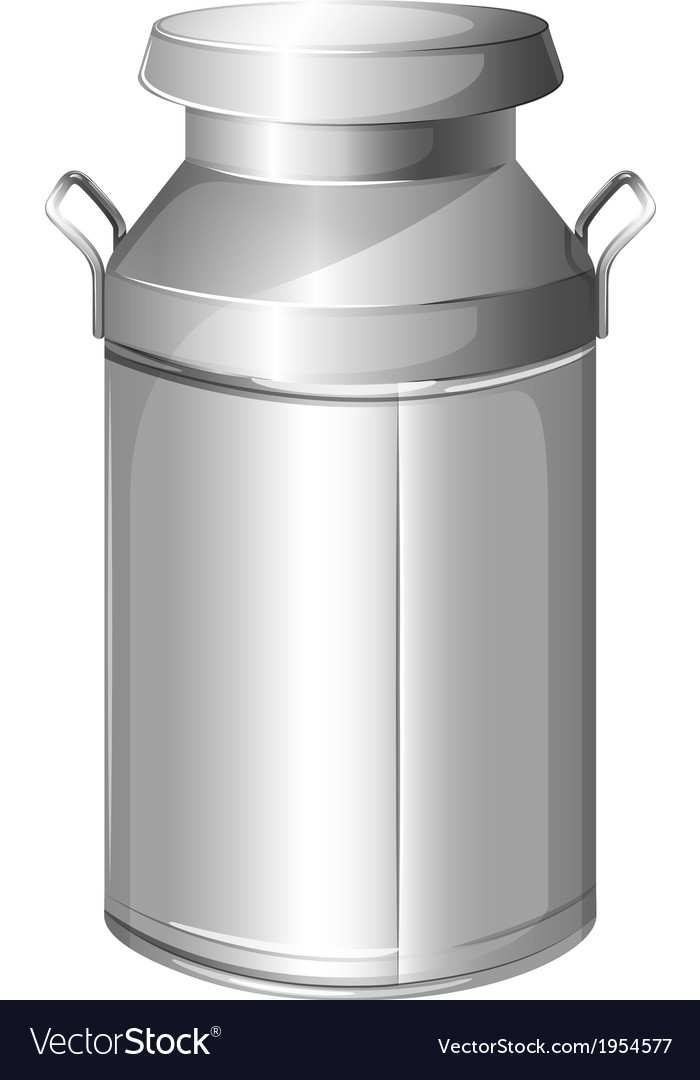 A milk stainless container vector | Price: 1 Credit (USD $1)