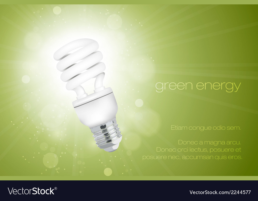 Energy saving light bulbs vector | Price: 1 Credit (USD $1)