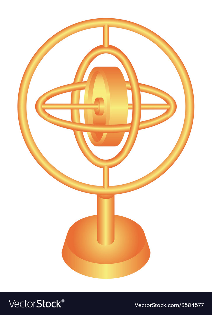 Golden gyroscope vector | Price: 1 Credit (USD $1)