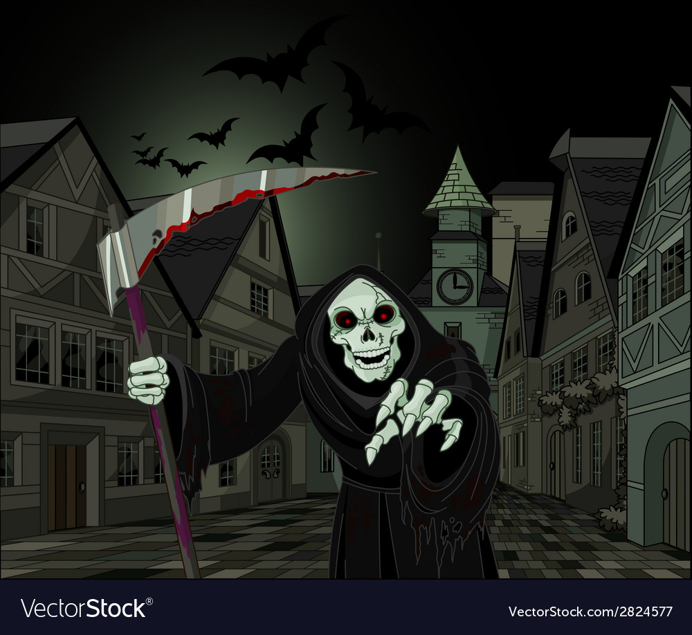 Halloween grim reaper vector | Price: 3 Credit (USD $3)