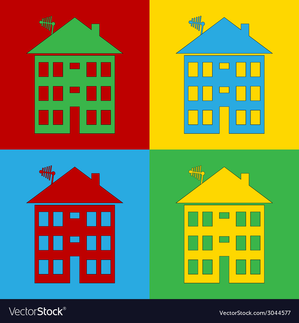 Pop art home vector | Price: 1 Credit (USD $1)
