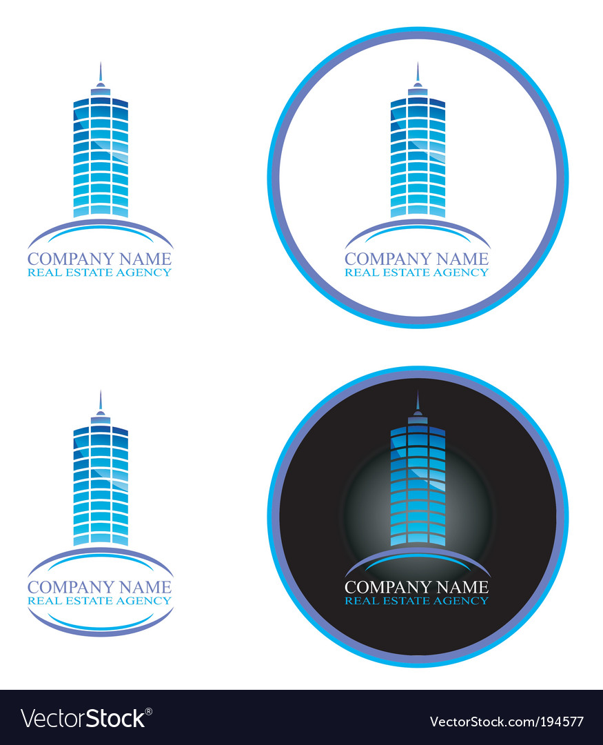 Real estate design elements vector | Price: 3 Credit (USD $3)