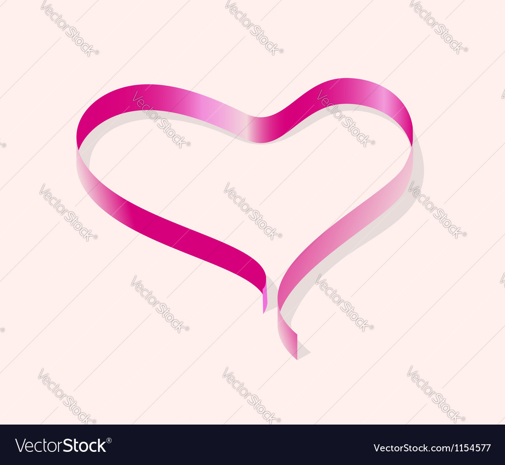 Ribbon line heart vector | Price: 1 Credit (USD $1)