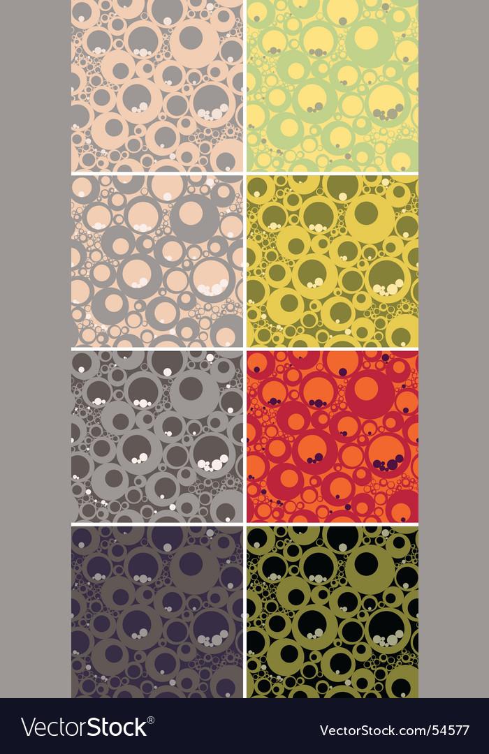 Seamless circles pattern set vector | Price: 1 Credit (USD $1)