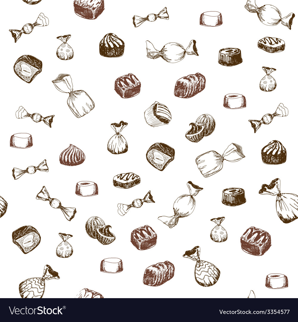 Seamless pattern with sweet vector | Price: 1 Credit (USD $1)