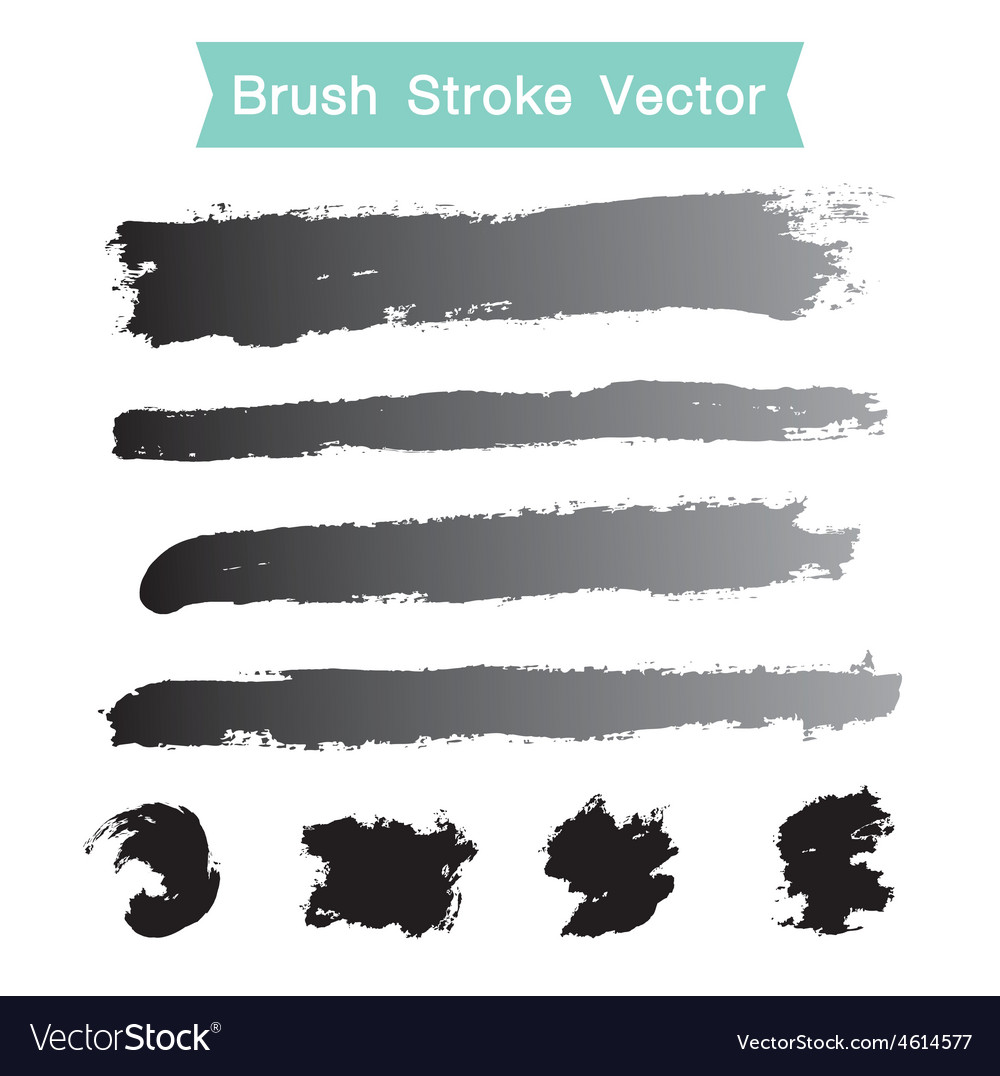 Set of grunge brush stroke vector | Price: 1 Credit (USD $1)
