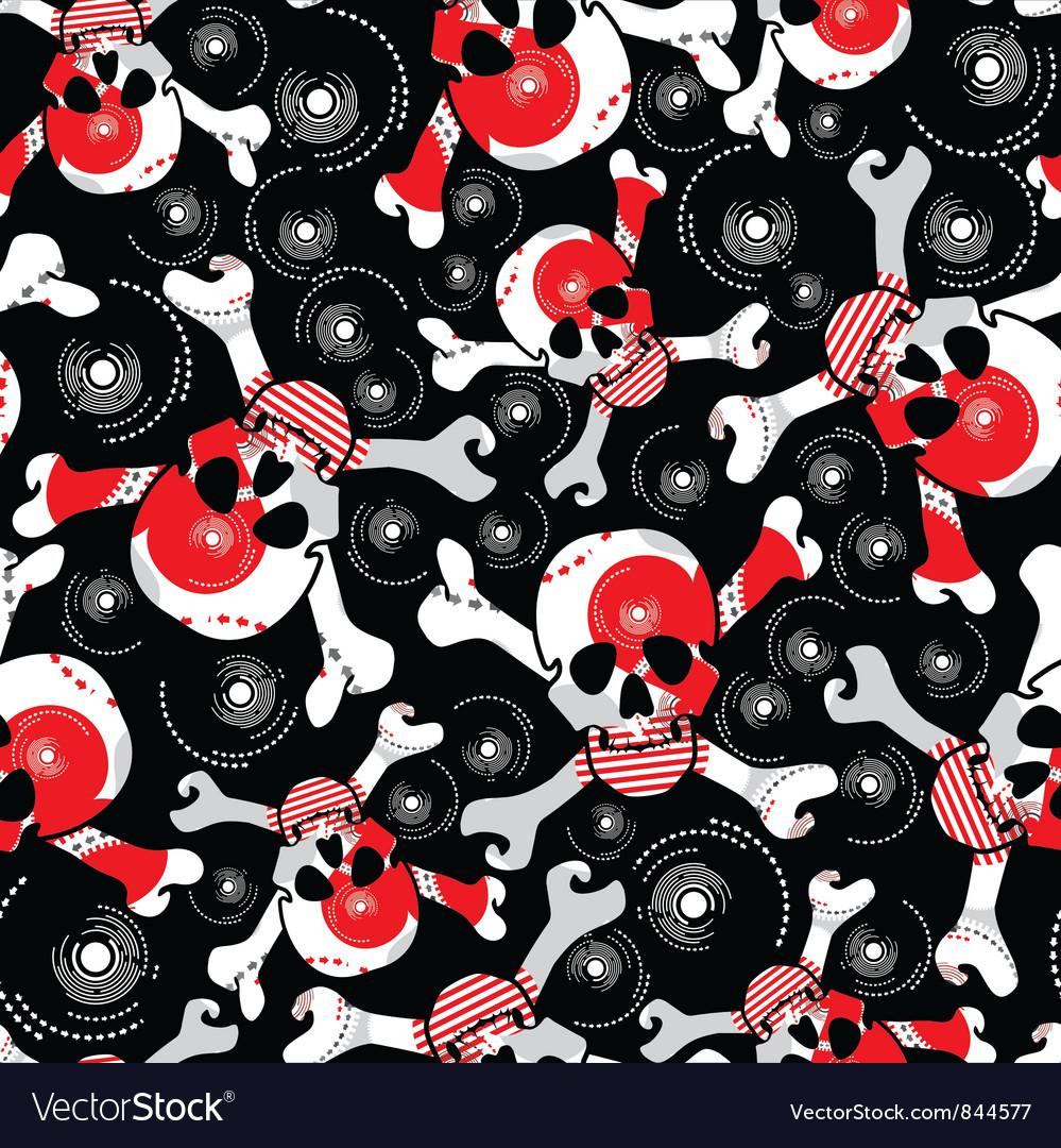 Skulls background vector