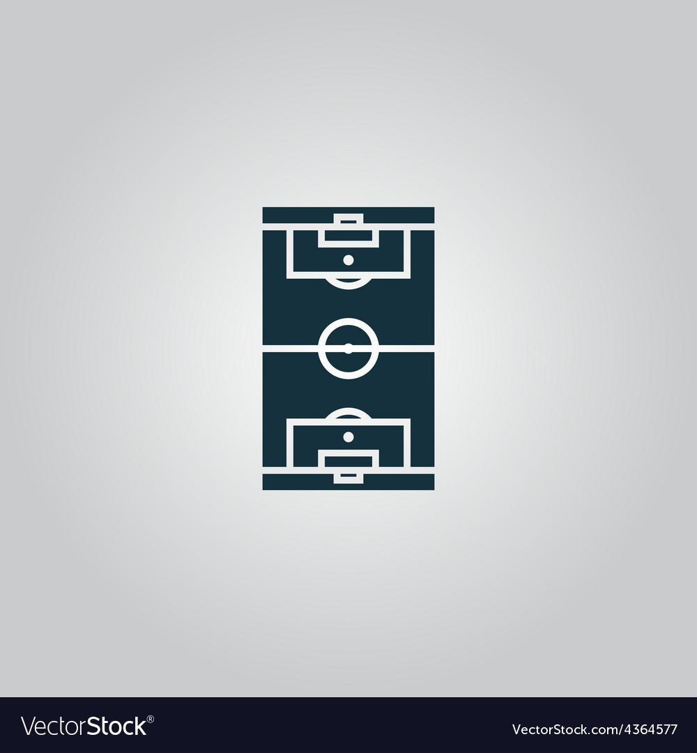 Soccer field icon eps 10 vector | Price: 1 Credit (USD $1)