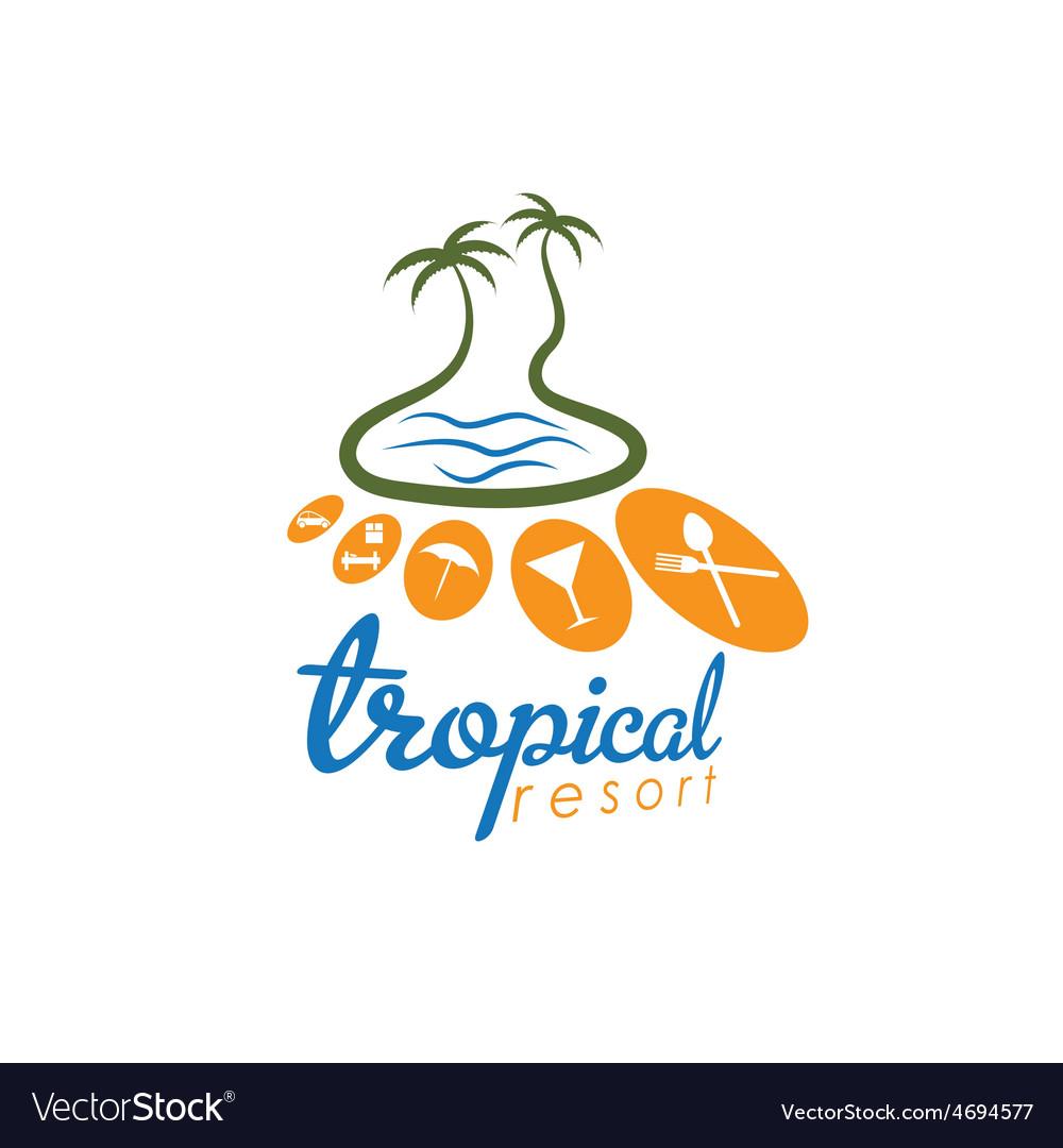 Tropical resort design template vector | Price: 1 Credit (USD $1)