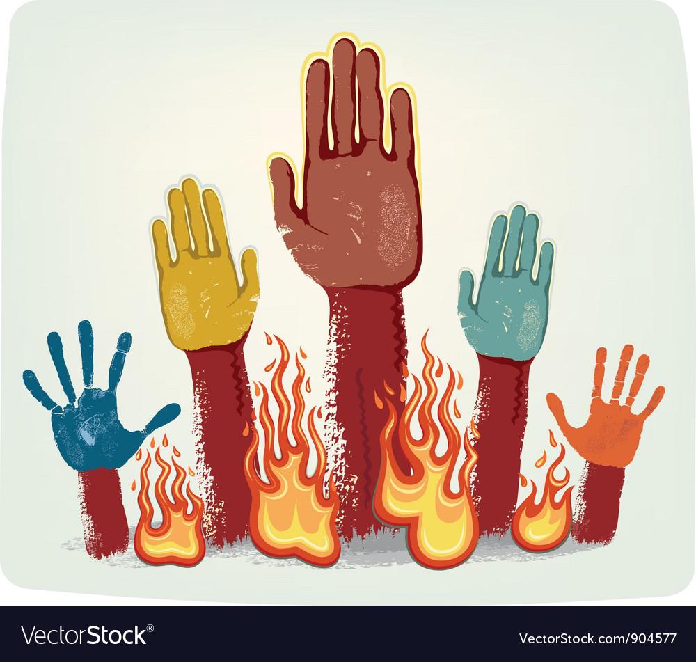 Voting fire hands vector | Price: 3 Credit (USD $3)