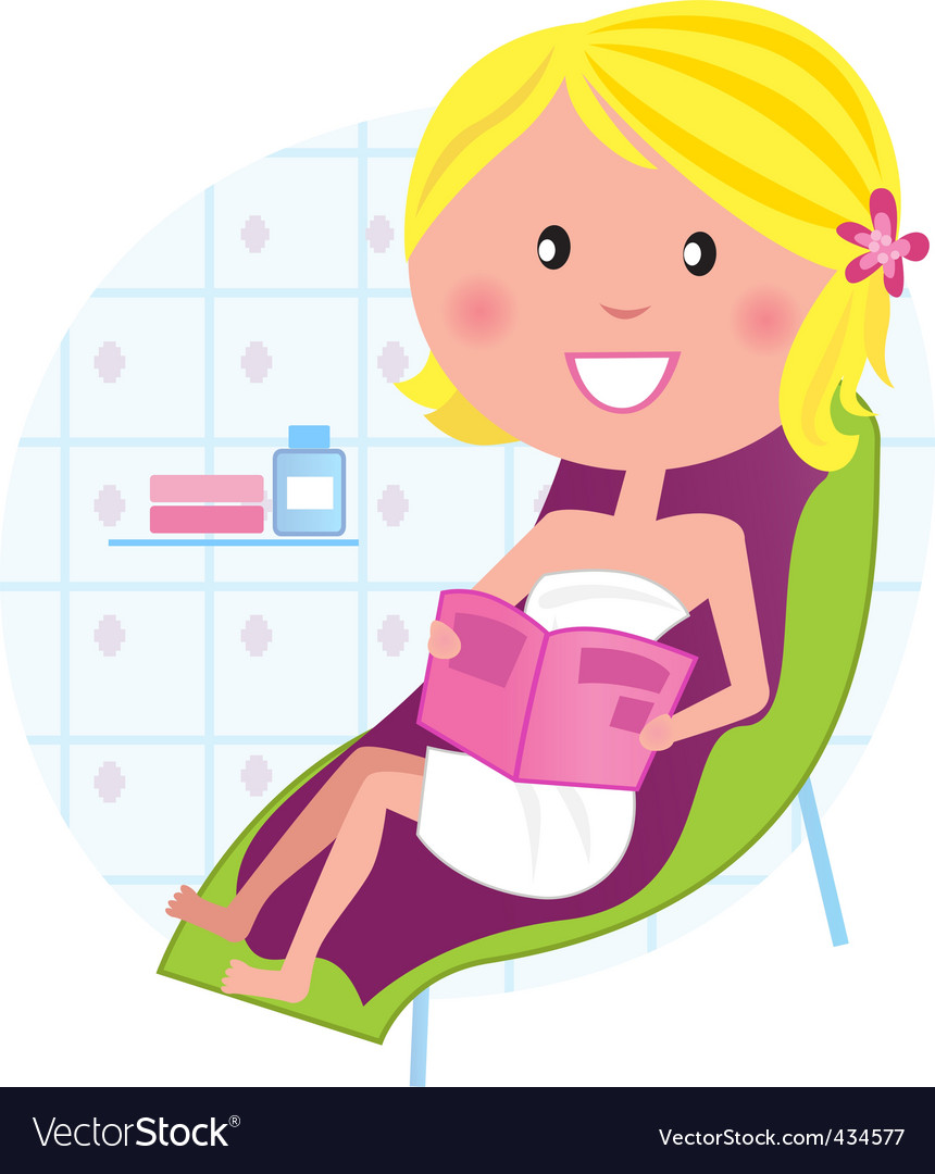 Wellness  spa relaxing woman vector | Price: 1 Credit (USD $1)