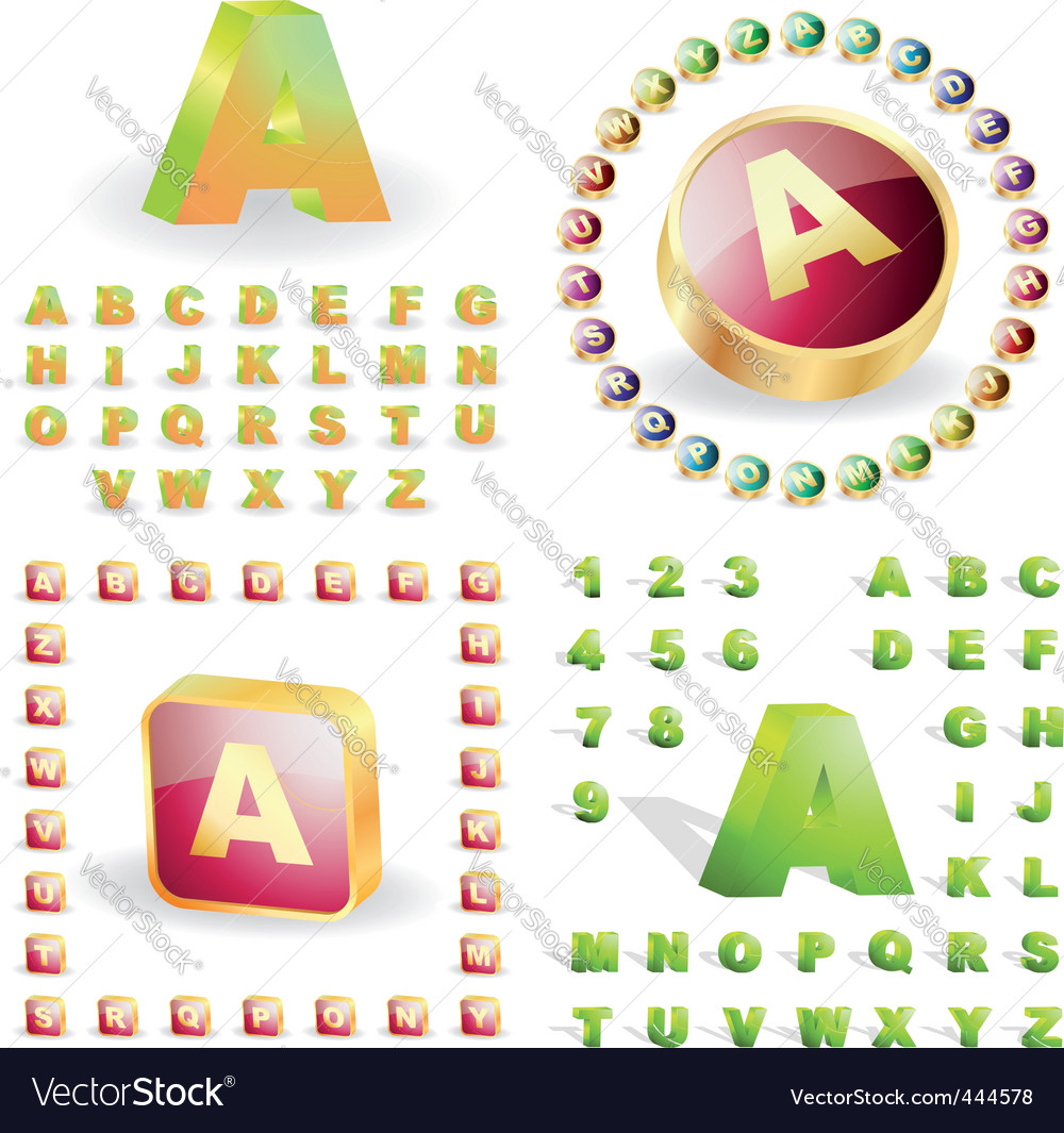 Alphabet set vector | Price: 1 Credit (USD $1)