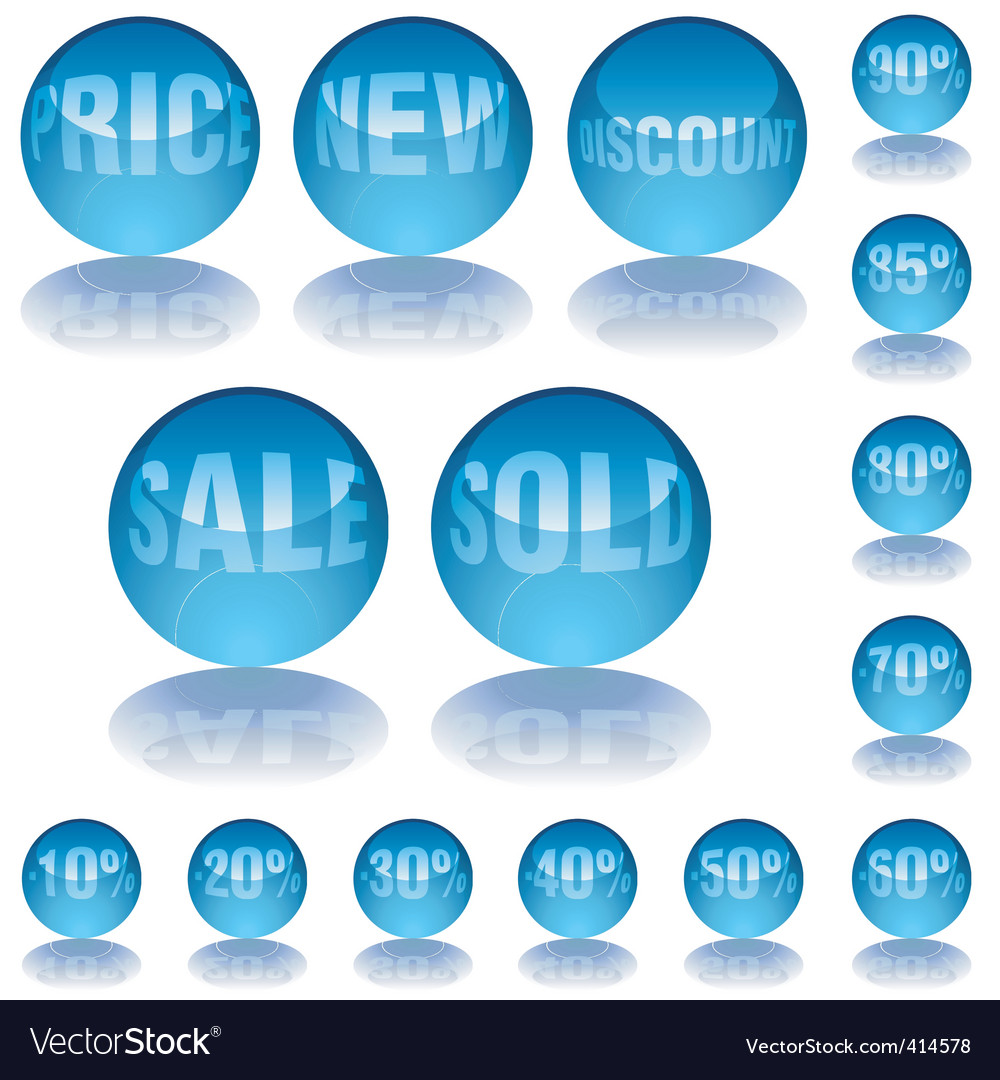 Aqua glass prices vector | Price: 1 Credit (USD $1)