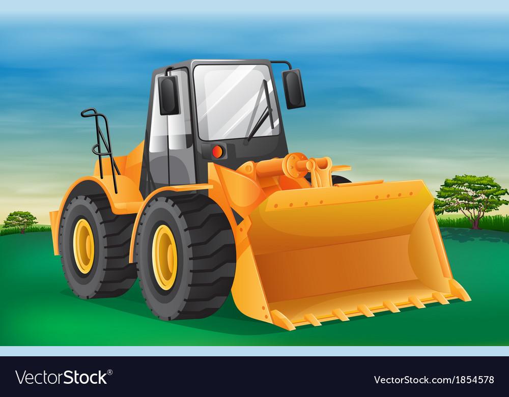 Bulldozer vector | Price: 3 Credit (USD $3)
