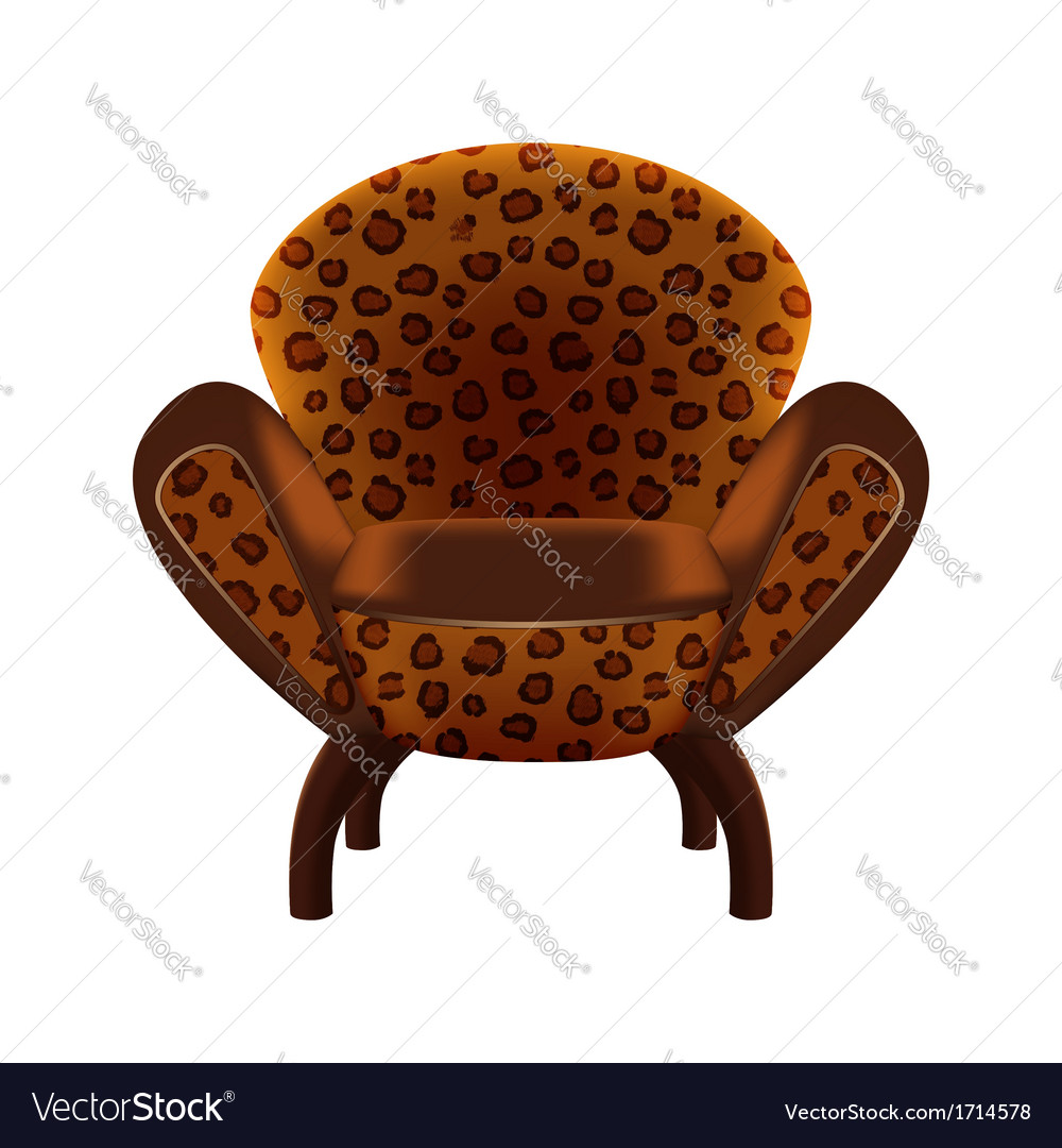 Chair in leopard-print upholstery vector | Price: 1 Credit (USD $1)