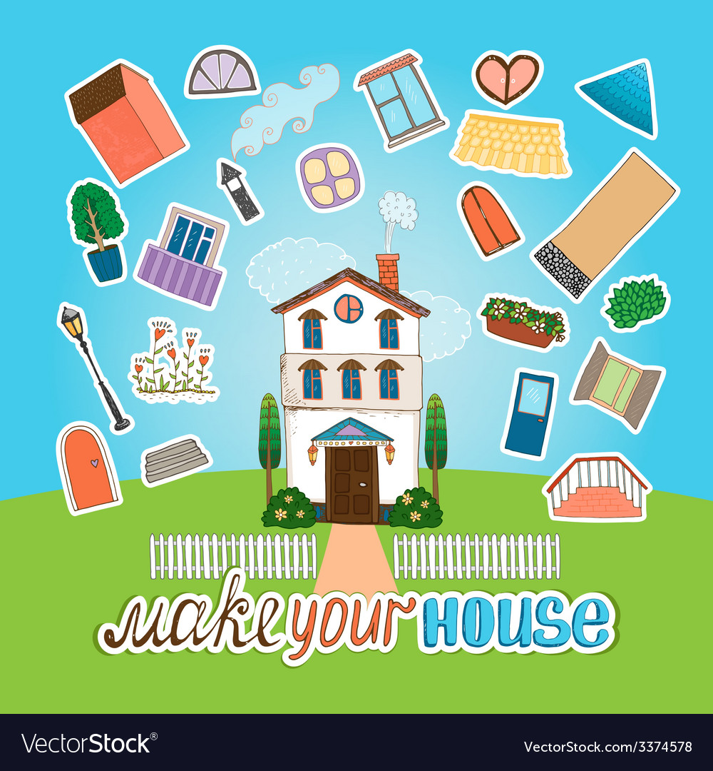 Designer house vector | Price: 1 Credit (USD $1)